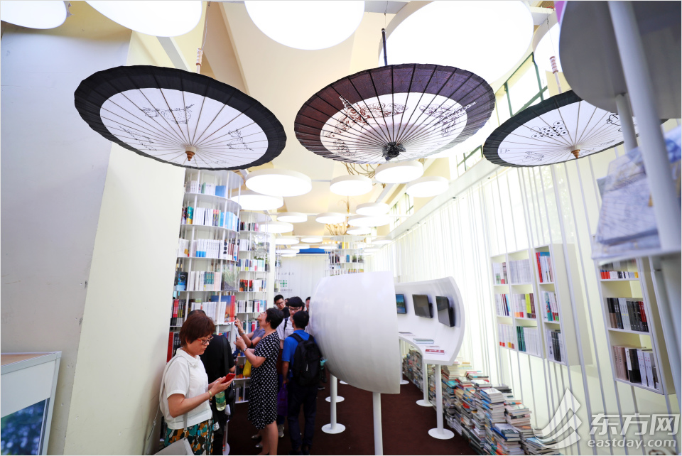 "Check out the beautiful ""study rooms"" in the book fair"