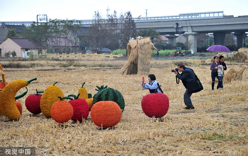 Straw Art Festival held in Pudong